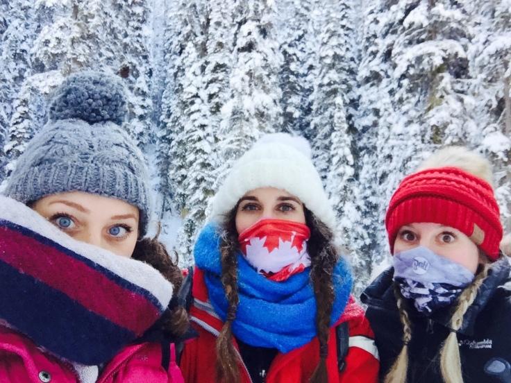 Three beauties is Banff, Canada