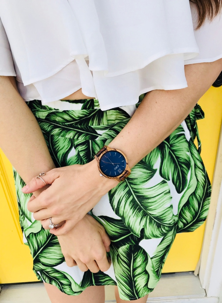 JORD wooden watch the frankie zebrawood and navy