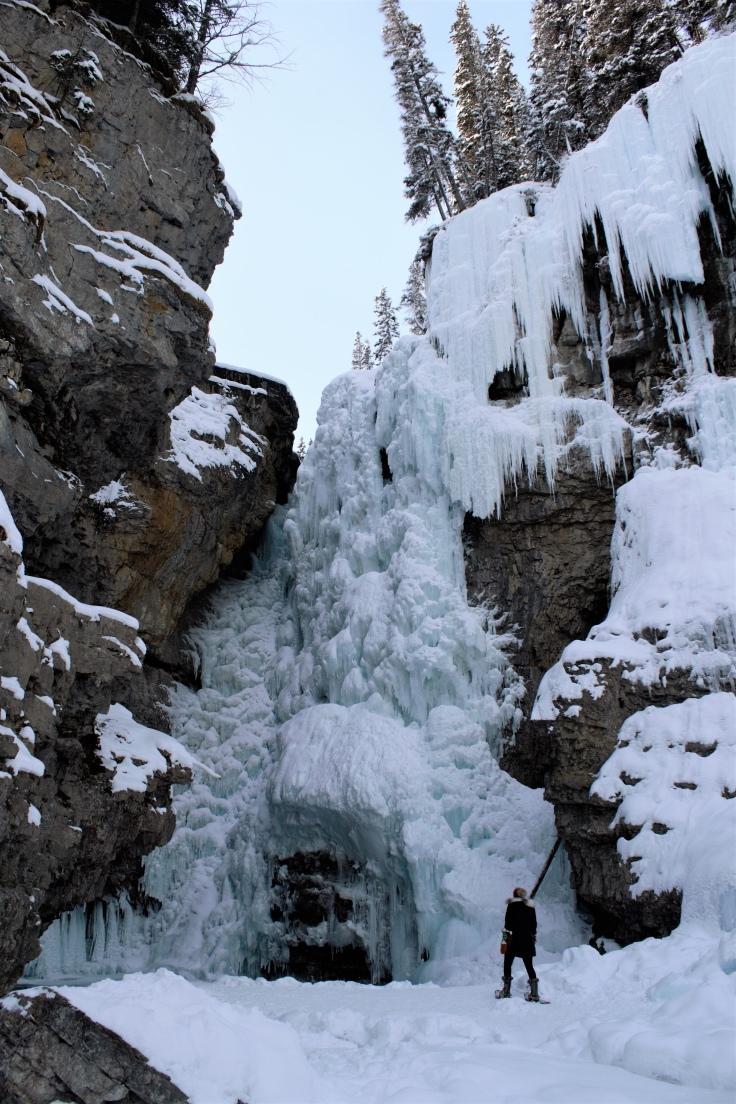 Frozen waterfall, Johnson Canyon, Banff, Canada