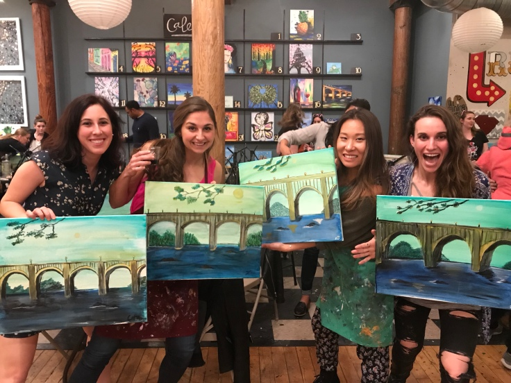 Paint and sip at studio cellar